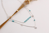 Boho Turquoise Layer Necklace - Slim Wallet Company