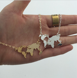 World Map Necklace $19.00 - Slim Wallet Company