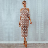 Caramel Glitter Dress - Slim Wallet Company