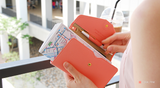 All-in-One Leather Travel Pop Clutch (Genuine Leather version)