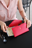 All-in-One Leather Pop Clutch - Slim Wallet Company