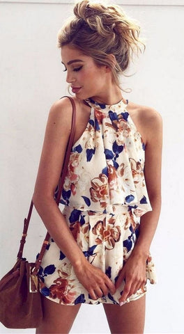 Friday Floral Two Piece Romper - Slim Wallet Company