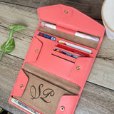 Personalized All-in-One Leather Travel Pop Clutch (Genuine Leather version) - Slim Wallet Company