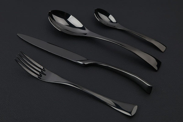 Diamond Black Cutlery - 4 Piece Set - Slim Wallet Company