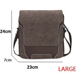 2016 New Mens POLO bag top oxford+soft leather men messenger bag leisure bag men's briefcase fashion men's shoulder business bag - Slim Wallet Company