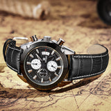 Black Tie Chronograph Watch - Slim Wallet Company