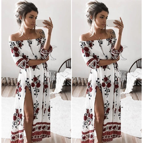 Boho Life Off Shoulder Maxi - Slim Wallet Company