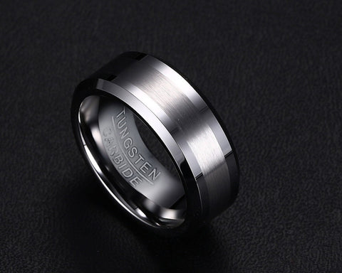 Classical 100% Tungsten Carbide Ring - Slim Wallet Company