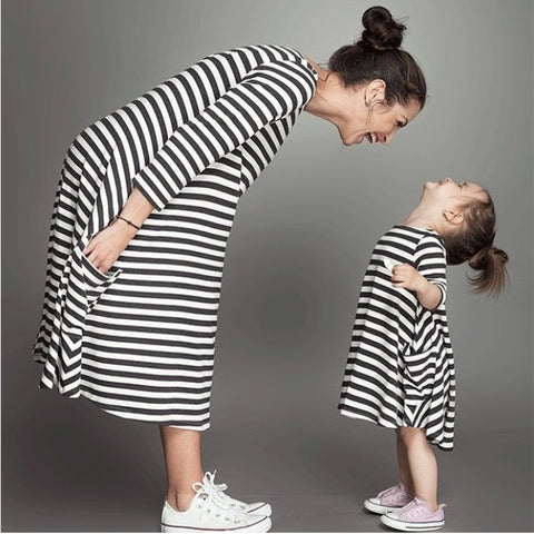 Mom and Daughter Stripe Outfit - Slim Wallet Company