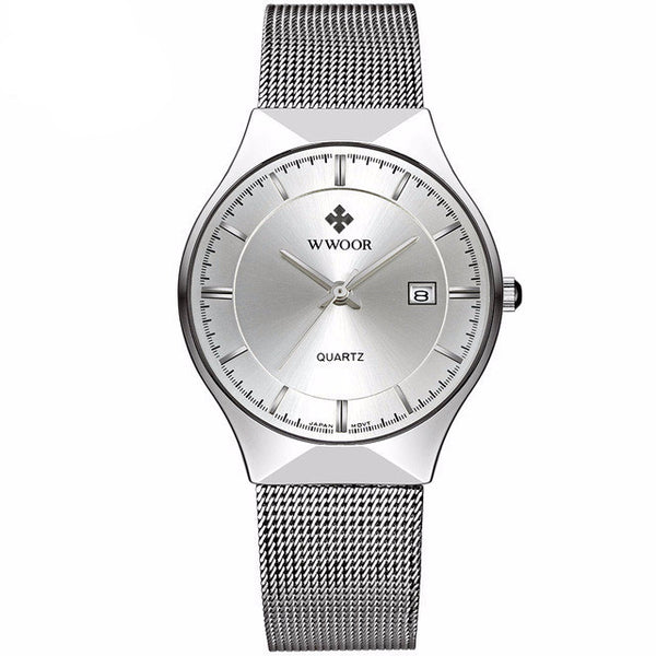 Ultra Thin Stainless Steel Mesh Wristwatch - Slim Wallet Company