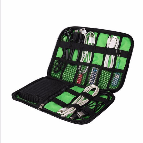 Women Large Cable Organizer Bag Can Put Hard Drive Cables