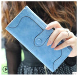 Retro Matte Suede - Women's Wallet Clutch