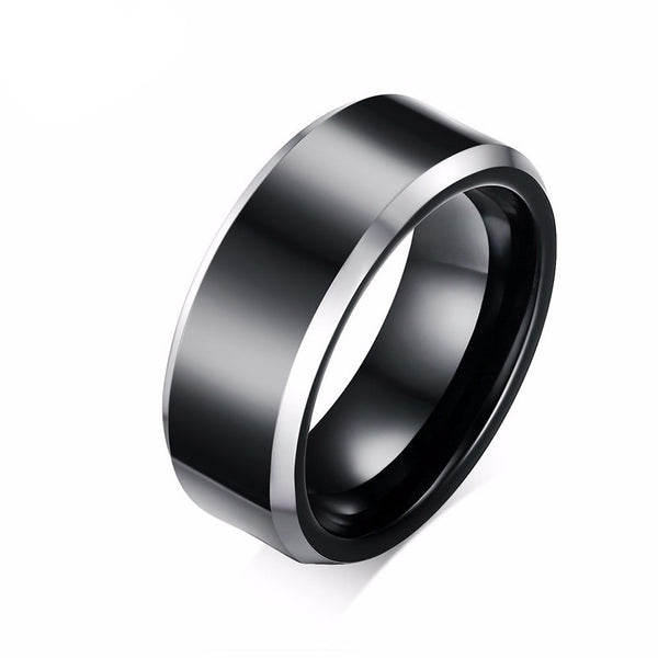 Pure Tungsten Carbide Rings Classical Black Wedding Ring - Slim Wallet Company