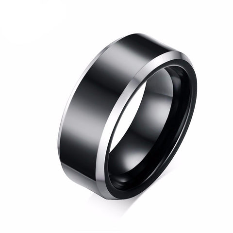 Pure Tungsten Carbide Rings Classical Black Wedding Ring