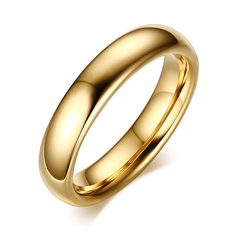 Classic Gold Plated Tungsten Carbide Ring Wedding Ring