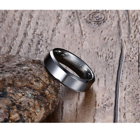 Black Tungsten Carbide Ring Wedding - Slim Wallet Company