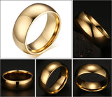 18k Gold Silver and Rose Tungsten Ring