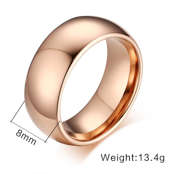 18k Gold Silver and Rose Tungsten Ring - Slim Wallet Company