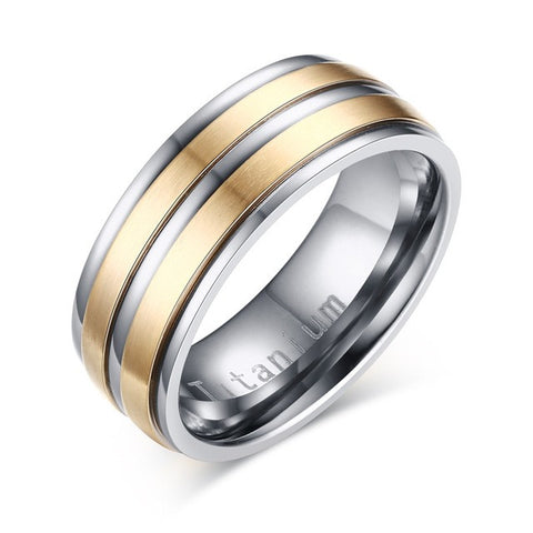Gold Silver Plated Titanium Carbide Ring
