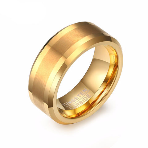 Gold Plated Tungsten Ring