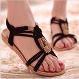 Boho Life Beaded Tribe Sandals - Slim Wallet Company
