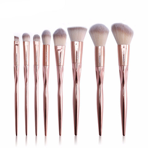 Rose Gold Make Up Brush Set - Slim Wallet Company