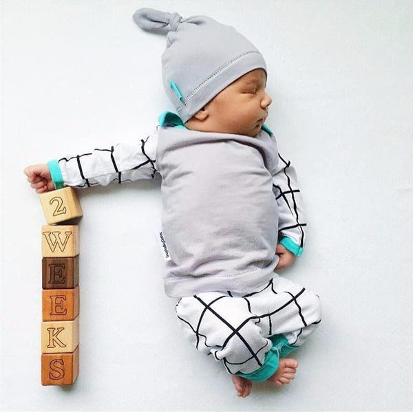 3pcs Baby Blue Outfit - Slim Wallet Company