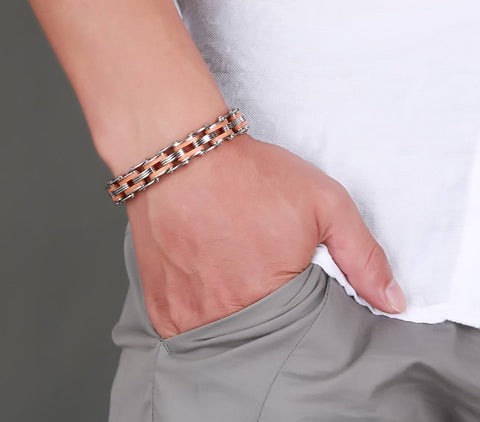 Stainless Steel Mix Color Biker Chain Bracelets