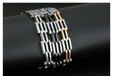 Stainless Steel Simple Biker Chain Bracelet