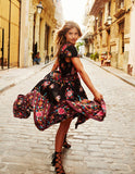 Summer Bohemian - Floral Dress - Slim Wallet Company