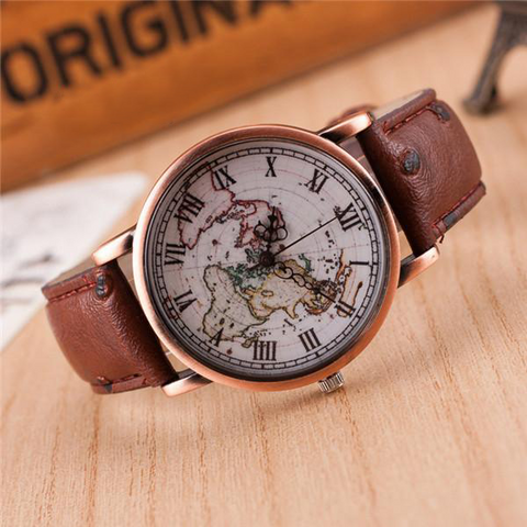 World Map Wrist watch - Slim Wallet Company
