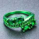 Green Gold  Zircon Crystal Ring - Slim Wallet Company