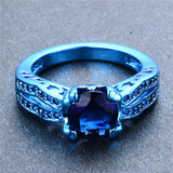 Blue Gold Round Zircon Ring - Slim Wallet Company