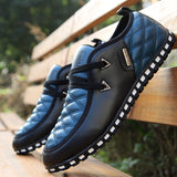 Cross Stitch Casual Loafers Men's Shoes - Slim Wallet Company