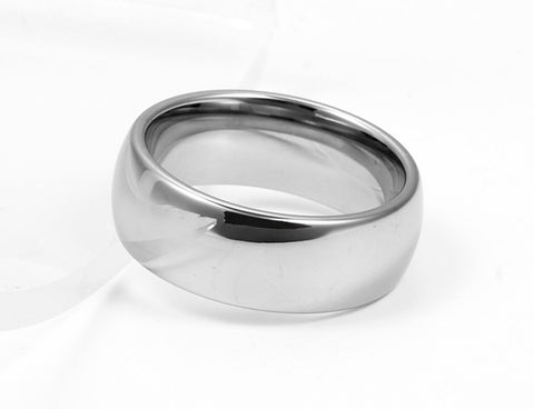Classic Minimal Tungsten Engagement and Wedding Ring