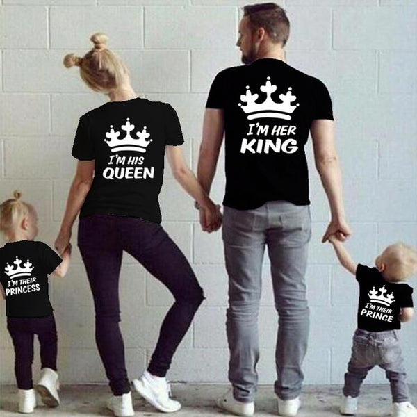 78e3089791902 King - Queen - Prince - Princess Mommy Daddy Baby Outfit