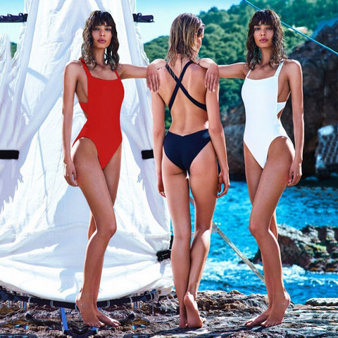Hot Push-up Padded One Piece Monokini Bandage Swimsuit - Slim Wallet Company