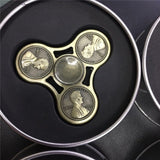 Metal Gear Fidget Spinner - Stress Reducer - For Focus Anxiety ADHD - Slim Wallet Company