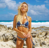 Blue Island Princess Crochet Bikini set - Slim Wallet Company