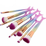 Mermaid Make Up Brush Set - Slim Wallet Company