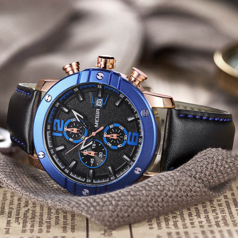 Blue Gold Timepiece - Slim Wallet Company