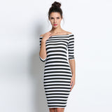 Bodycon Dress - Striped - Slim Wallet Company