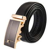 Luxury Cross Stitch Leather Belt - Slim Wallet Company