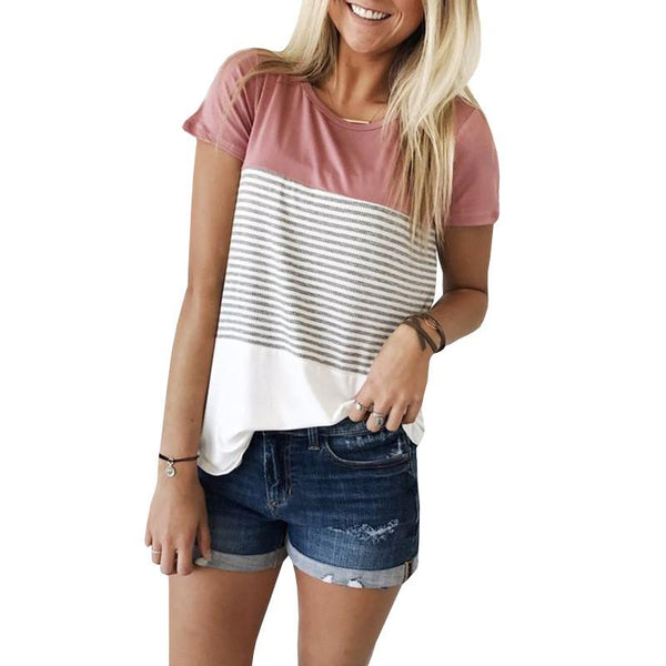 Pink Chill Striped T-Shirt - Slim Wallet Company