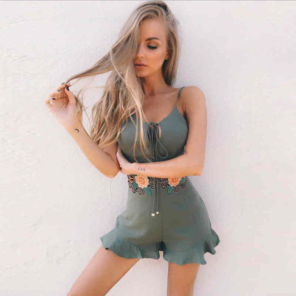 Army Chocolate Romper