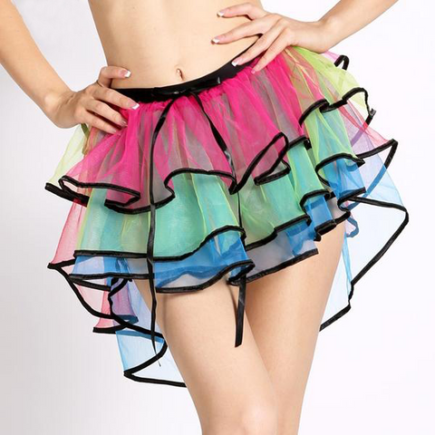 Rainbow Multi Layer Dancing Skirt