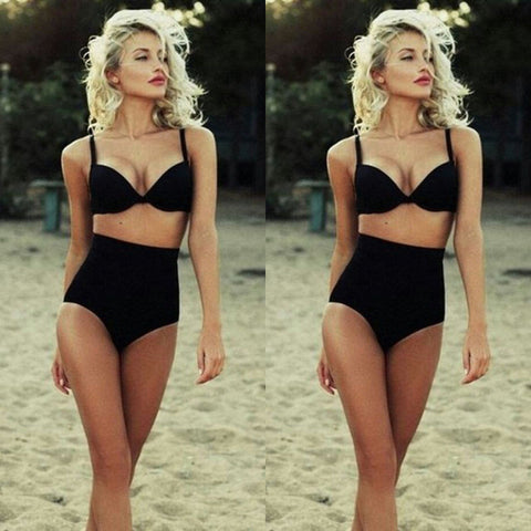 Black Diamond High Waist Bikini - Slim Wallet Company