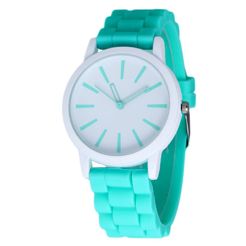 New Fashion Designer Geneva Ladies sports brand silicone watch jelly watch 17 colors quartz watch for women relojes mujer 299 - Slim Wallet Company