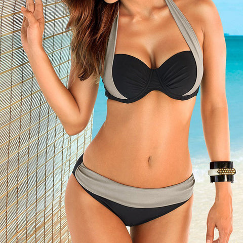 2016 New Bikini Women Triangle Push-Up Bikini Set Bandeau Swimwear Padded Swimsuit Bra Beachwear Woman bikinis set sportswear - Slim Wallet Company