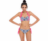 New Thin Stripe Bikinis Women Swimsuit Push Up Bikini Set Bathing Suits Halter Summer Beach Wear - Slim Wallet Company
